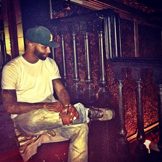 Joe Budden wearing Nike Air Force 1 Max VT Camo