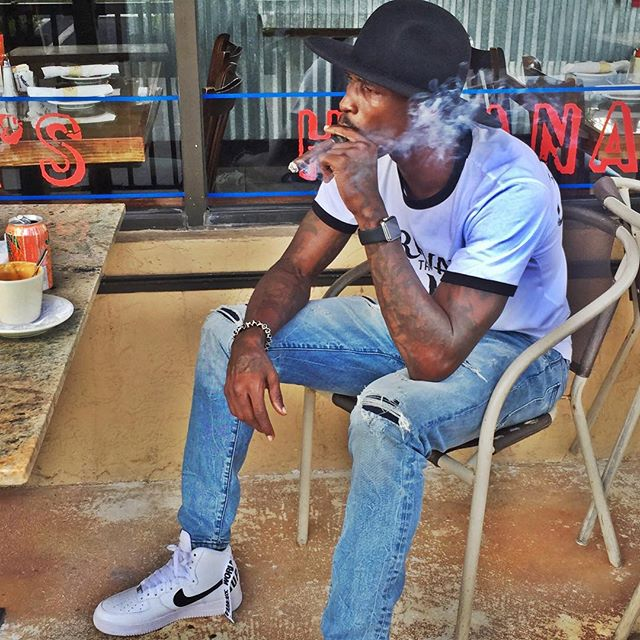 524632cd68cf Chad Johnson wearing the  White  Supreme x Nike Air Force 1 High