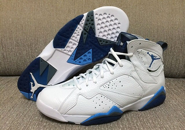 huge discount f59bd 97a00 Another Look at the 2015 'French Blue' Air Jordan 7 Retro ...