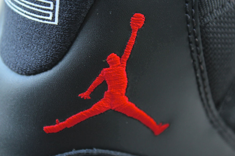 Air Jordan XI 11 Black Red 378037 010 (12)