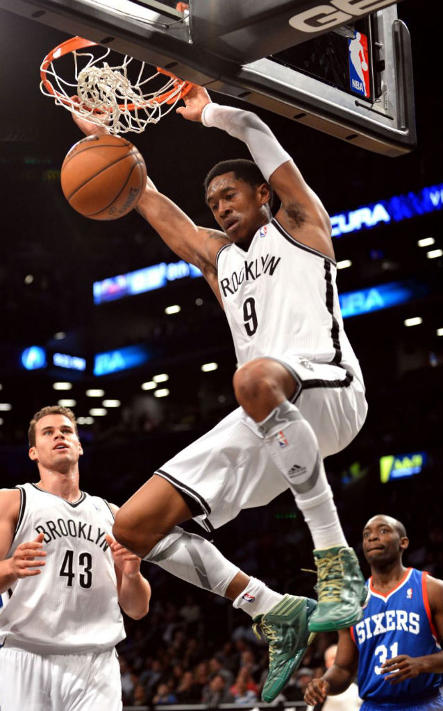 MarShon Brooks wearing adidas adizero Crazy Light 2 Green