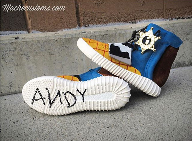 adidas Yeezy 750 Boost Toy Story Andy Custom