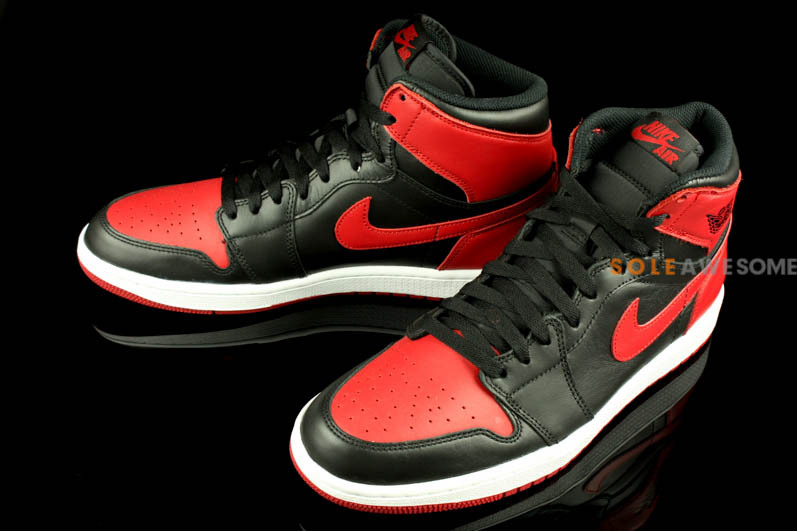 sneakers for cheap 5494b 5a1d0 Air Jordan 1 Retro High OG - Black Red - New Images