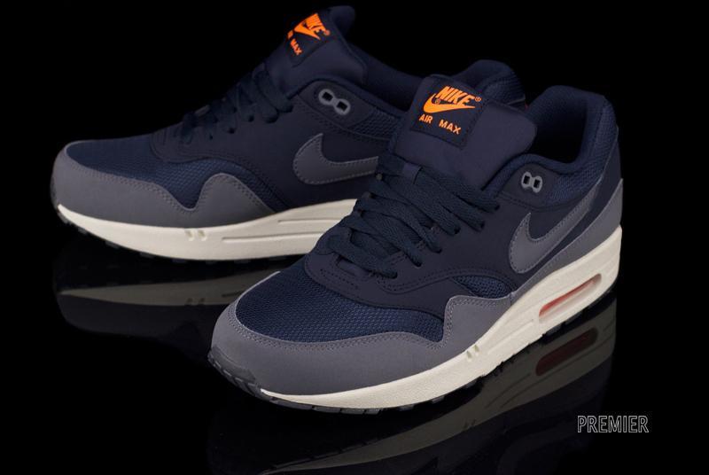 nike coupons de sortie rabais - Nike Air Max 1 Essential - Dark Obsidian / Dark Grey / Light Bone ...