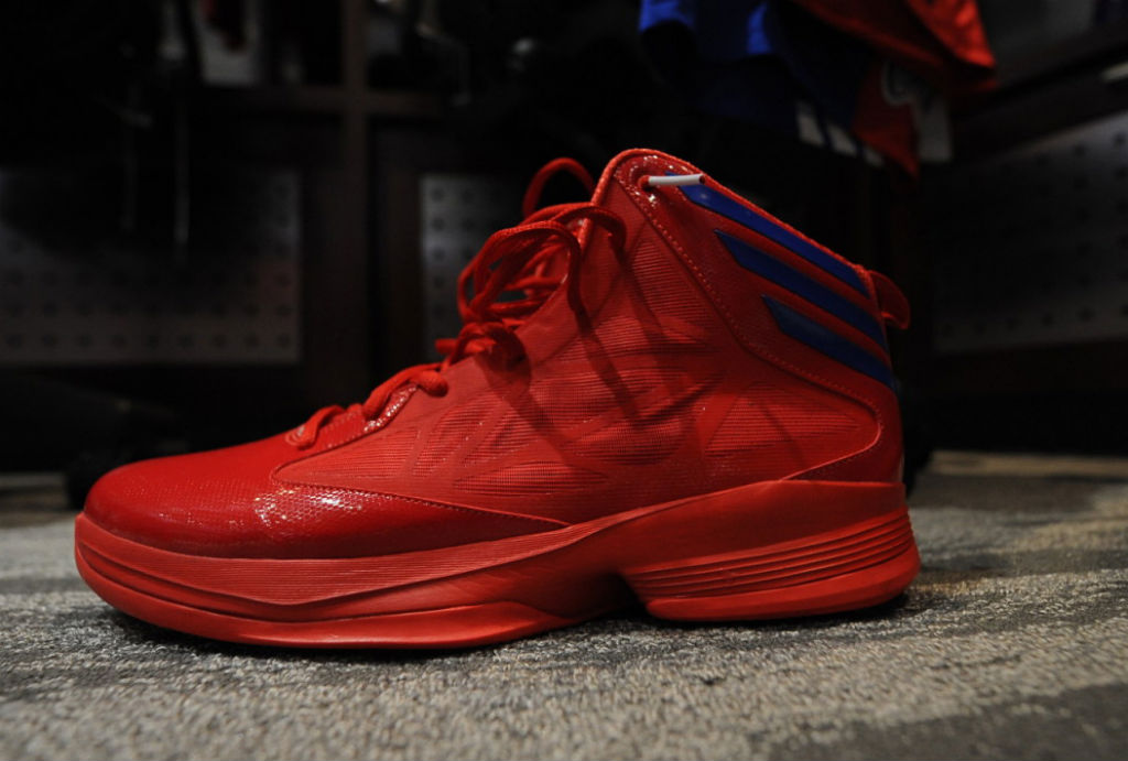 Matt Barnes wearing adidas Crazy Fast Red Blue (1)