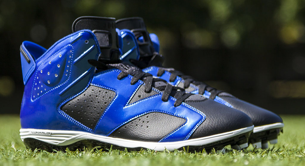 Hakeem Nicks' Air Jordan VI 6 Colts PE Cleats (1)
