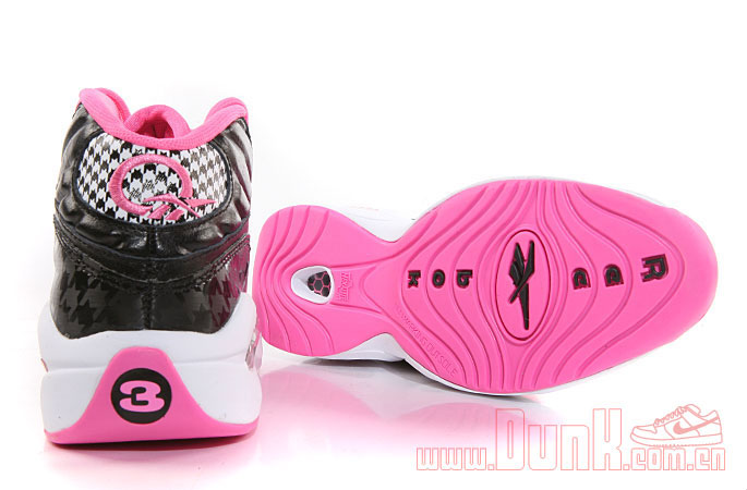 Reebok Question GS Black/Pink Houndstooth (4)