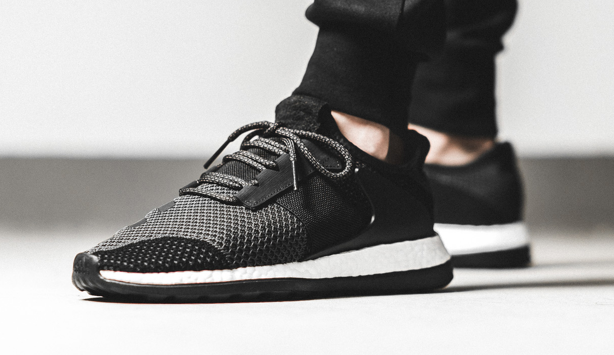 online store 19b78 5d632 Image via 43 Einhalb Adidas Consortium Ado Pure Boost Black On-feet