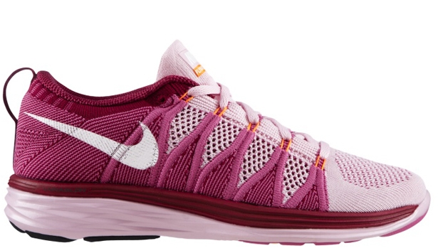 Nike Flyknit Lunar2 Women's Light Arctic Pink/White-Red Violet-Raspberry Red