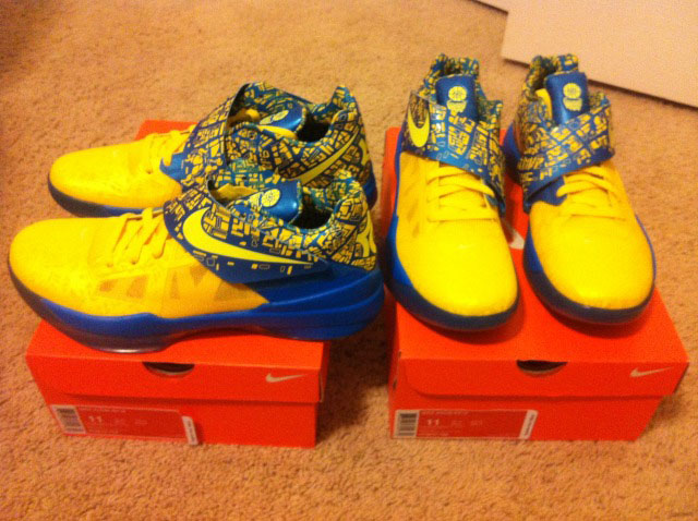 ffb3a0344ca6 Nike Zoom KD IV 4 Scoring Title Tour Yellow Lemon Twist Photo Blue  473679-703
