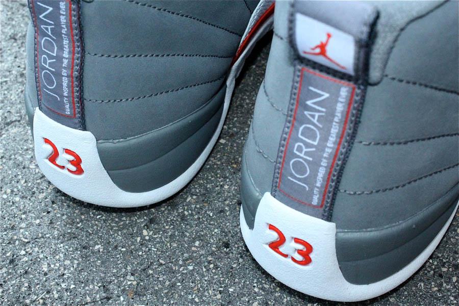 1b952a6ff96758 Air Jordan XII 12 Cool Grey White Team Orange 130690-012 (2)