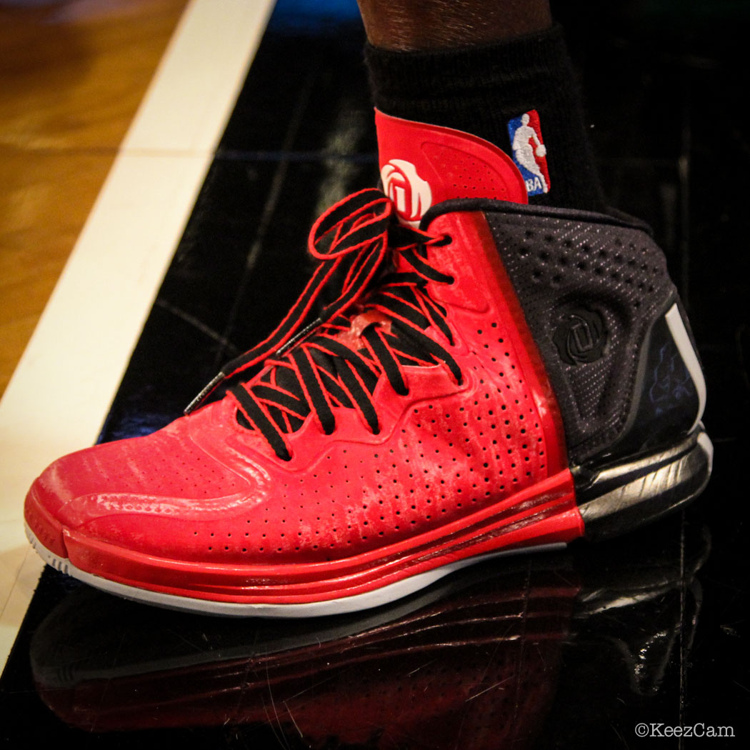 SoleWatch // Up Close At Barclays for Nets vs Clippers - Darren Collison wearing adidas D Rose 4 Brenda