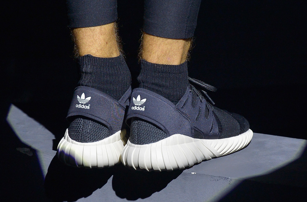 A Distinct Pattern Highlights This adidas Tubular Doom Primeknit