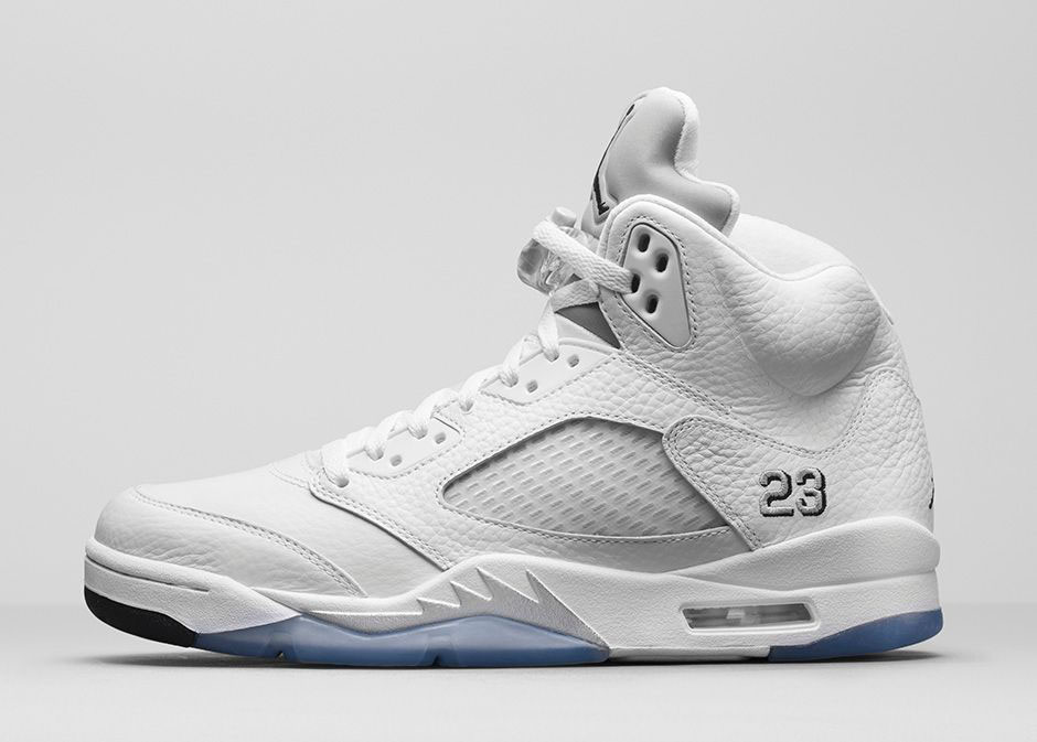 hot sale online 1304a 9e1d5 Air Jordan V 5 White Metallic 136027-130 (2)