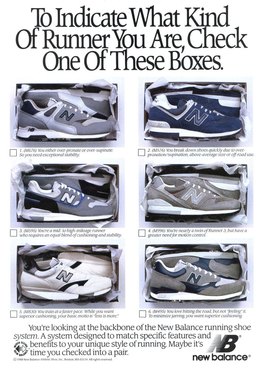 Vintage Ad: New Balance Runners Circa 1989 | Sole Collector