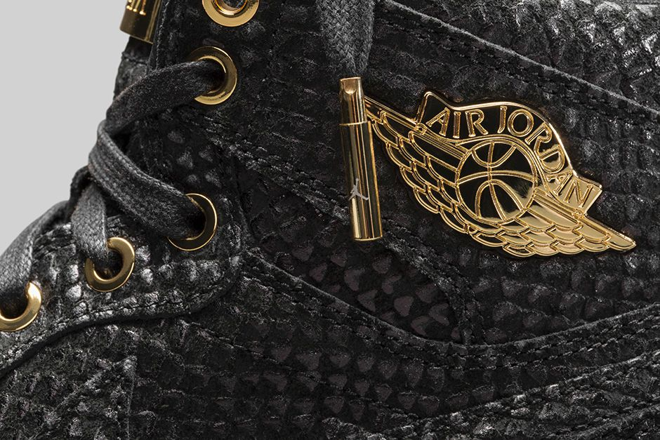 Air Jordan 1 Pinnacle Black/Gold 705075-030 (7)