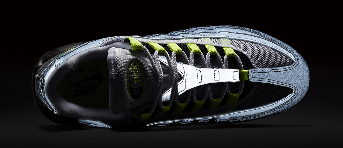 0cb0cb68b4134c Nike s Fully Reflective  Neon  Air Max 95 Just Released