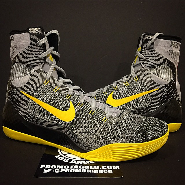 Nike Kobe 9 Elite Wolf Grey/Tour Yellow PE (1)