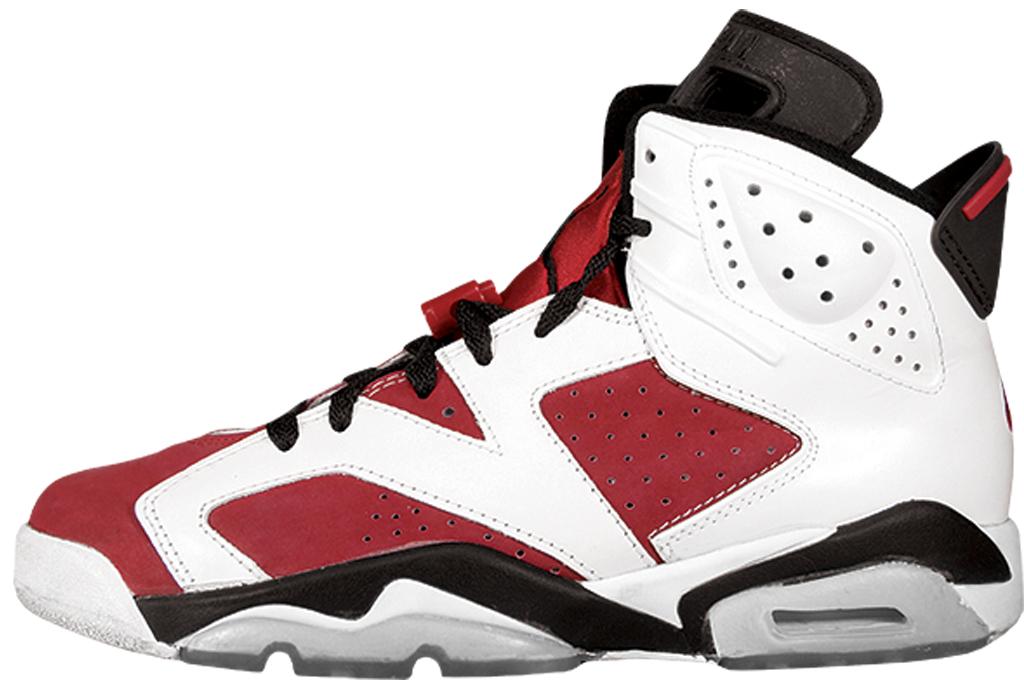 black and red jordan 6