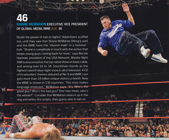 Shane McMahon wearing the Air Jordan Retro 3 True Blue