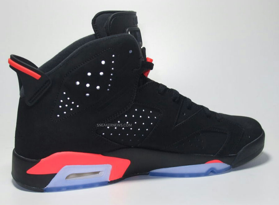 Air Jordan VI 6 Black/Infrared (10)