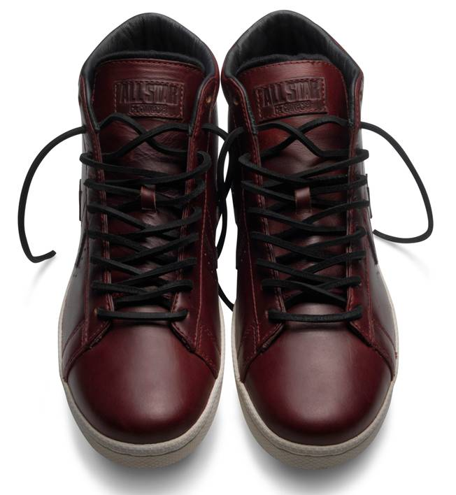 Converse First String Standards Dr. J Pro Horween Leather Burgundy