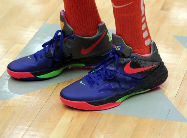 timeless design 23e04 b75de Kevin Durant Debuts NERF Nike Zoom KD IV in OKC Charity Game