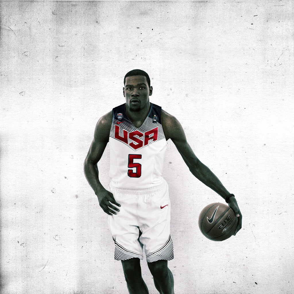 Nike Basketball Unveils 2014 USA Basketball Uniforms - Kevin Durant (2)
