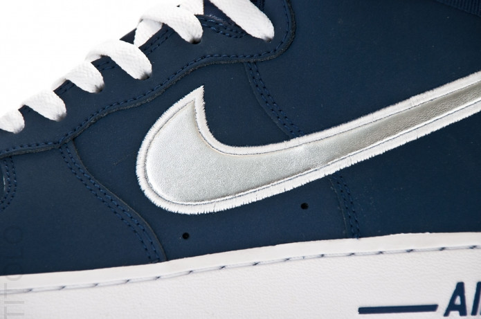 nike air force 1 high midnight navy metallic silver