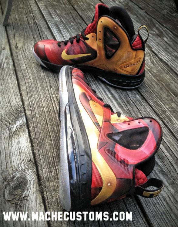 best loved 97ab4 7468c Nike LeBron 9 P.S. Elite Tony Stark by Mache Custom Kicks (2)