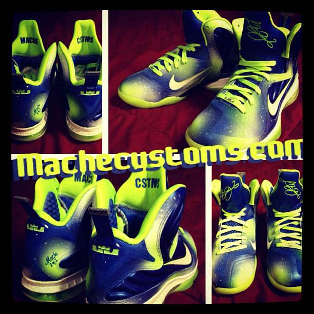 fe225bfad1b Nike LeBron 9 Sprite Nights by Mache Custom Kicks (1)