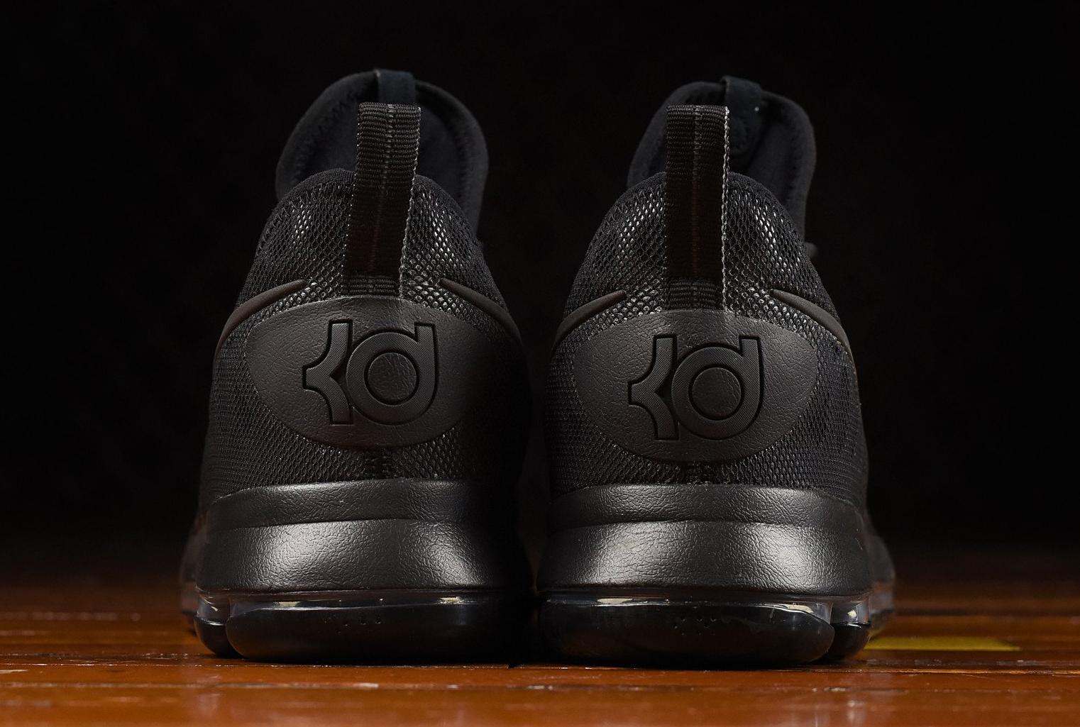 07b22ad683fe Nike KD 9 Triple Black 843392-001 Heel