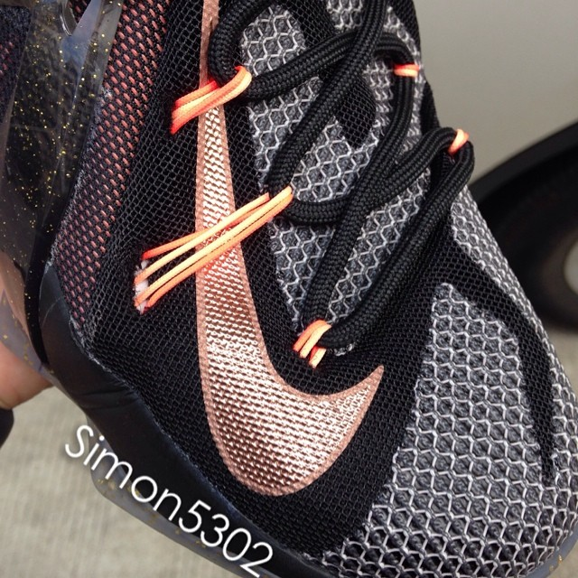 Nike LeBron XII12 Black Mango Sample (1)