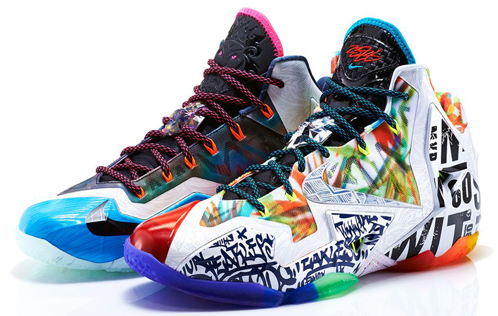 71049934cc66 Sneaker  Nike LeBron 11  What The  When  Saturday Price   250. Available  at  nike.com and select Nike Basketball retailers