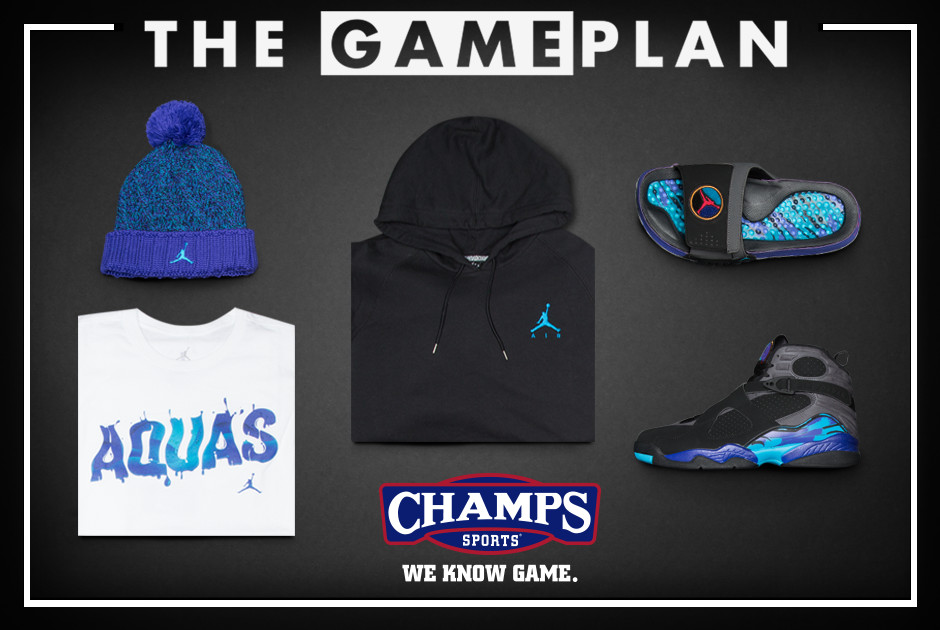 The Game Plan by Champs Sports Presents the Jordan  Aqua  Collection ... d846c0010