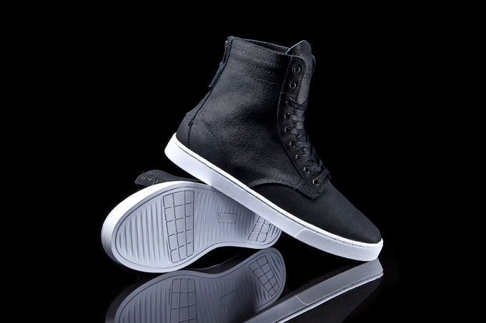 SUPRA Wolf Black Waxed Suede (1)