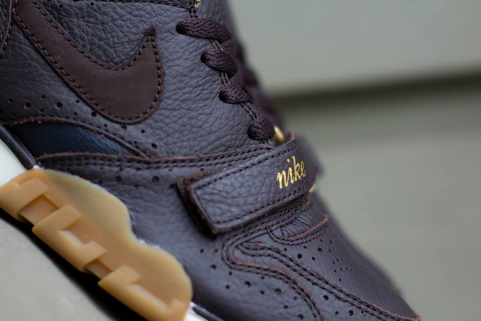 Nike Air Trainer 1 Mid Premium QS Brogue strap detail