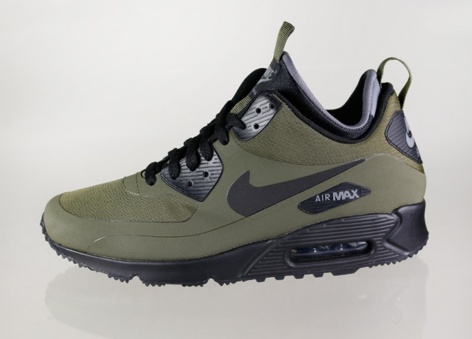 hot sale online 1da42 9cf28 Nike Air Max 90 Mid Winter Color  Dark Loden Black-Dark Grey Style    806808 -300