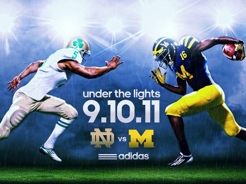 5aaa80243ca Notre Dame & Michigan Will Wear Retro Uniforms in