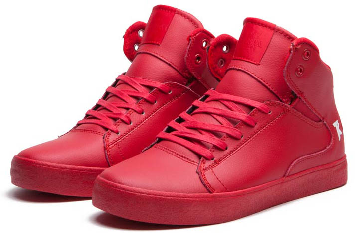 SUPRA Action Pack Society Mid Shoes Red (2)