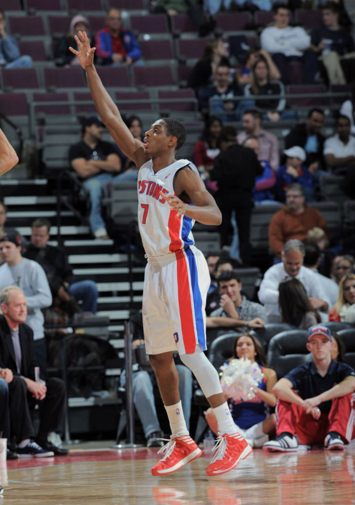 Brandon Knight wearing adidas Crazy Shadow Red White