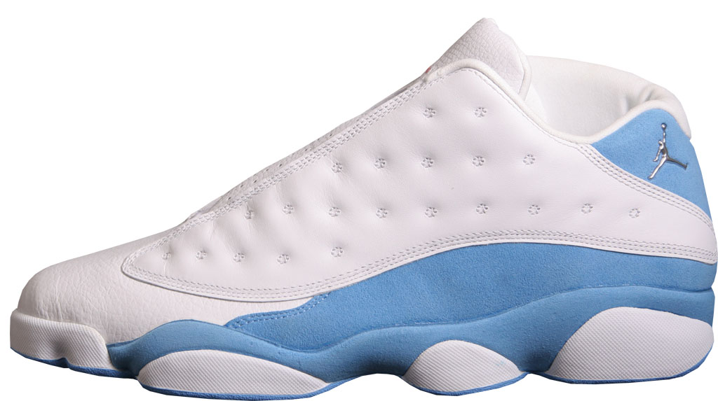 air jordan 13 white and blue