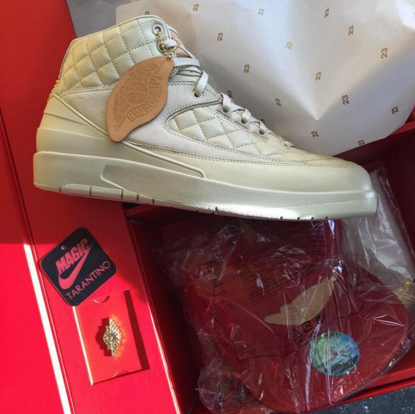 fa01a068cbf Don C x Air Jordan 2. Release Date  01 30 16. Color  Beach Metallic  Gold-University Red Style    834825-250