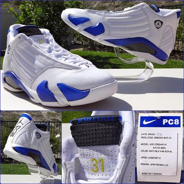 2036eeef69489e Reggie Miller Had His Own Air Jordan 14 PE   Sole Collector