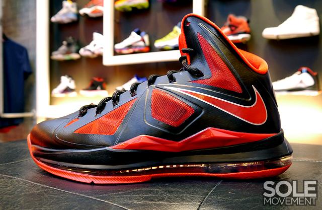 11 05 2012 Nike LeBron X 541100-006 Black University Red-Metallic Silver   180.00 dffca44481331