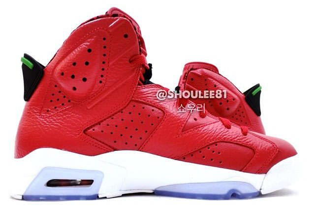 Air Jordan VI 6 Red Leather 694091-625 (4)