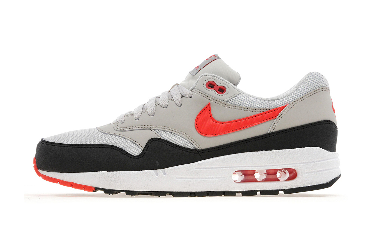 quality design c3bda e47a2 Nike Air Max 1 - Light Bone  Cherry Red - JD Sports Exclusive
