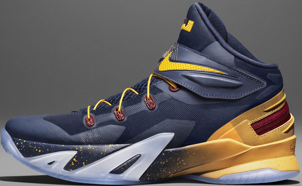 Nike Zoom Soldier VIII Flyease Midnight Navy/Team Red-University Gold