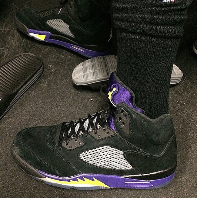 newest 8e04a 7d391 Nick Young s  Lakers  Air Jordan 5s