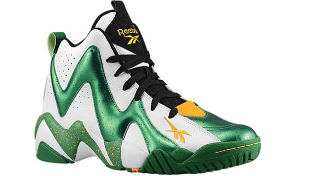 Reebok Kamikaze II Mid White/Green-Yellow-Black